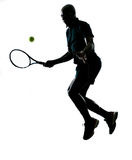 Man tennis player forehand Stock Images