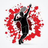 Man tennis player serve Royalty Free Stock Photo