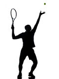 Man tennis player at service Stock Photo