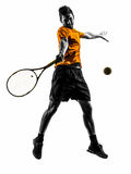 Man tennis player silhouette Stock Images