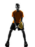 Man tennis player silhouette Royalty Free Stock Image