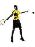 Man tennis player silhouette Stock Photography