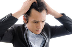 A man Tense royalty free stock images