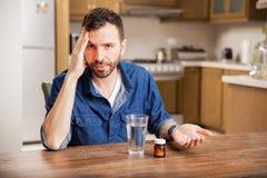 Man with terrible migraines Stock Photo