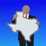 Man with Texas sign Royalty Free Stock Photos