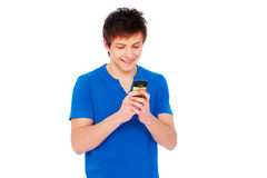Man text messaging on mobile phone Stock Photography