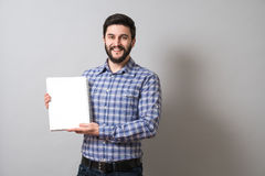 Man with textbook Royalty Free Stock Image