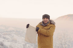 Man with Textile Bag Royalty Free Stock Image