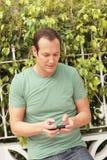 Man texting Royalty Free Stock Photo