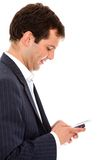 Man texting on his phone Royalty Free Stock Photography