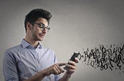 Man texting Stock Photos