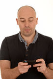 Man texting with mobile Royalty Free Stock Photo