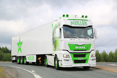 MAN TGX Mary Lou Show Truck from Switzerland Stock Image