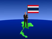 Man with Thai flag Stock Photography