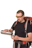 The man with thermos and tea Stock Photography
