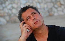 Man thinking Stock Photography