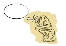 Man thinking Stock Illustration