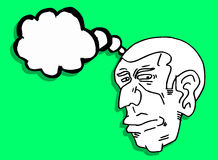 Man thinking. Creative design of man thinking Stock Photo