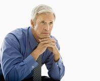 Man thinking. Royalty Free Stock Image