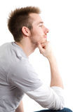 man thinking στοκ φωτογραφία