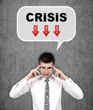 Man thinking about crisis Royalty Free Stock Photo