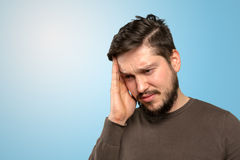 Man thinking deeply Stock Images