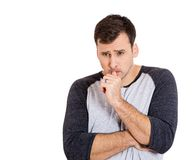 Man thinking deeply Royalty Free Stock Images