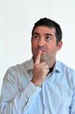 Man thinking face expression Royalty Free Stock Photo