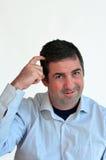 Man thinking face expression Stock Photo