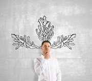 Man thinking Royalty Free Stock Photos