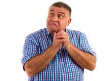 Man thinking hard. Stock Images