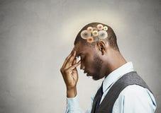 Man thinking hard Stock Image