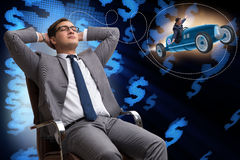 The man thinking of his business ipo Stock Images