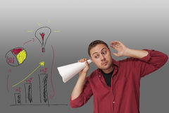 Man thinking of ideas Stock Image