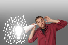 Man thinking of ideas Royalty Free Stock Images