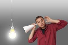 Man thinking of ideas Royalty Free Stock Photo