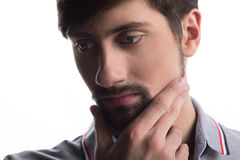 Man thinking and looking away Royalty Free Stock Images