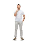Man thinking and looking up Royalty Free Stock Image