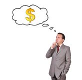 Man thinking about money Stock Photography