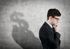 Man thinking about money Stock Images