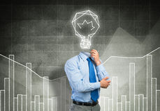 Man thinking over his idea Royalty Free Stock Images