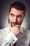 Man thinking about something Stock Images