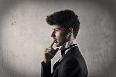 Man thinking of something Royalty Free Stock Images