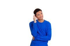 Man thinking something in disbelief and amusement Royalty Free Stock Photography