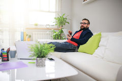 Man thinking about something nice Royalty Free Stock Images