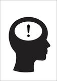 Man and thinking, Symbol exclamation Royalty Free Stock Photography
