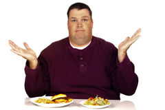 Man thinking what to eat Royalty Free Stock Photos
