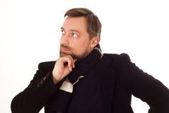 Man thinking on a white background Royalty Free Stock Image