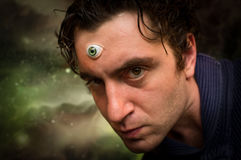 Man Third Eye Royalty Free Stock Photography