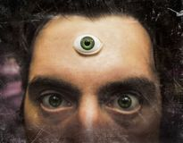 Man Third Eye. Handsome male fortune teller with magic third eye stock image